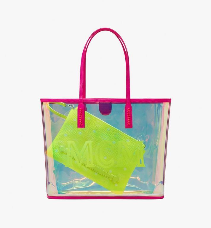 MCM Flo Shopper in Hologram Pink MWP9ALC01QP001 Alternate View 2
