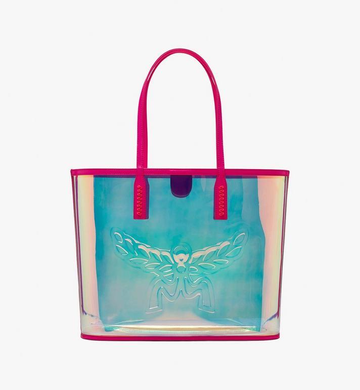 MCM Flo Shopper in Hologram Pink MWP9ALC01QP001 Alternate View 3