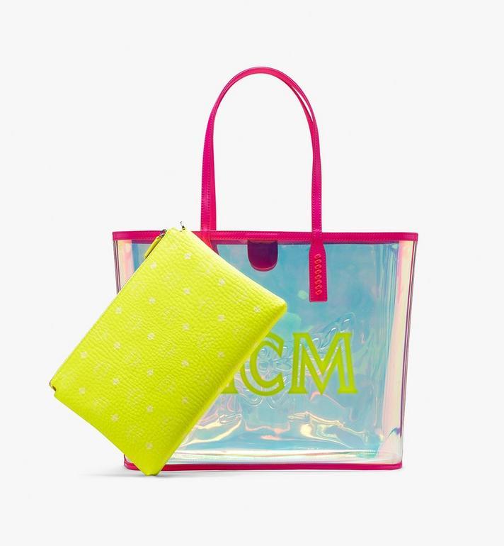 MCM Flo Shopper in Hologram Pink MWP9ALC01QP001 Alternate View 4
