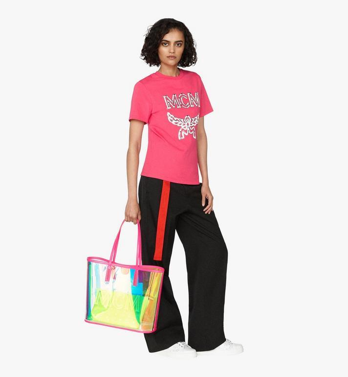 MCM Flo Shopper in Hologram Pink MWP9ALC01QP001 Alternate View 5