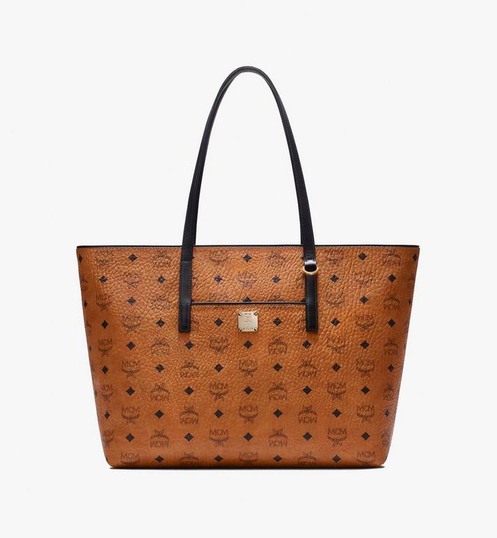 MCM Anya Shopper in Visetos Cognac MWP9AVI61CO001 Alternate View 1