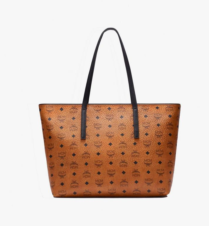 MCM Anya Shopper in Visetos Cognac MWP9AVI61CO001 Alternate View 3