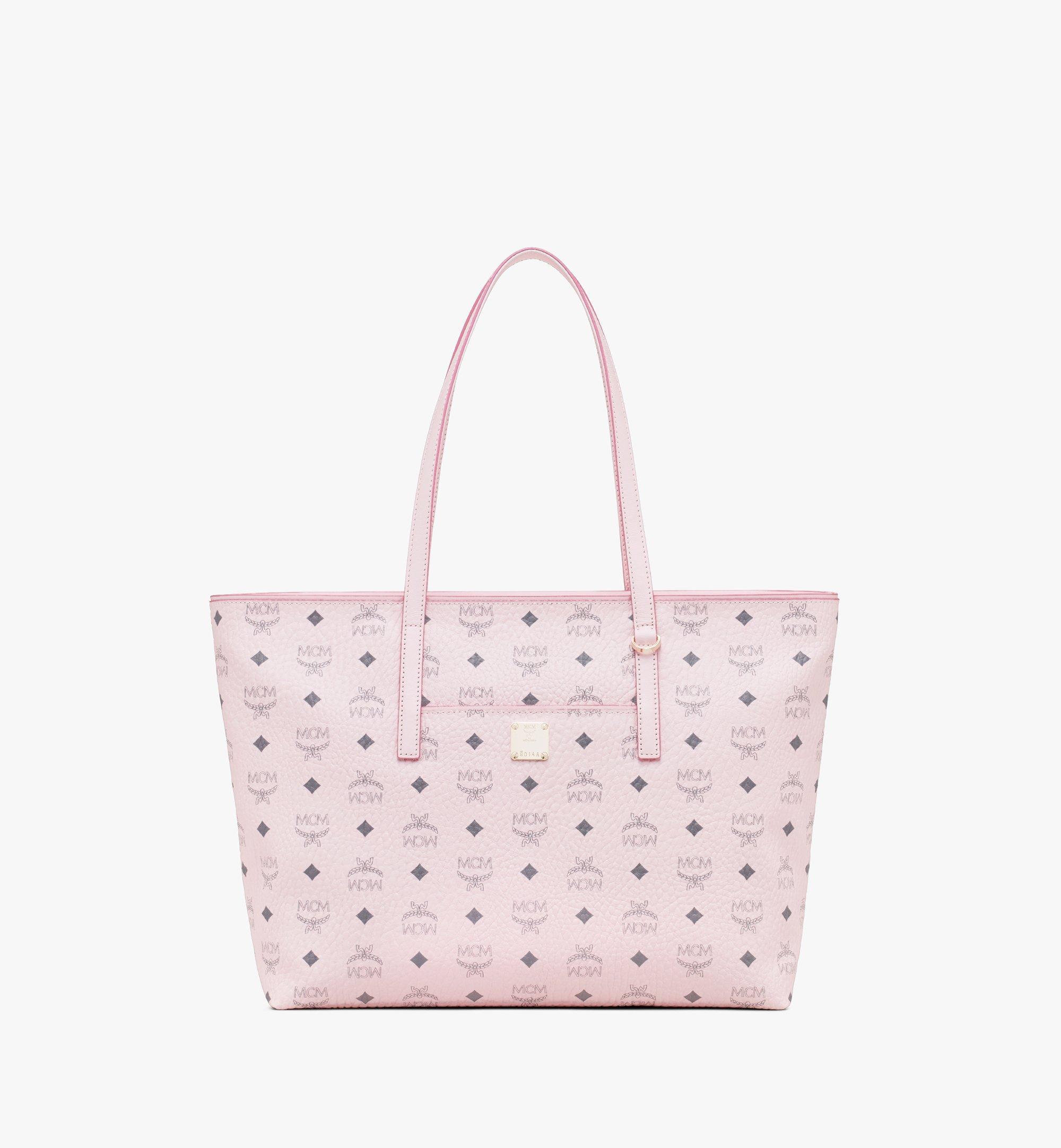 MCM Visetos 系列的 Anya Shopper 包款 Pink MWP9AVI61QH001 Alternate View 1