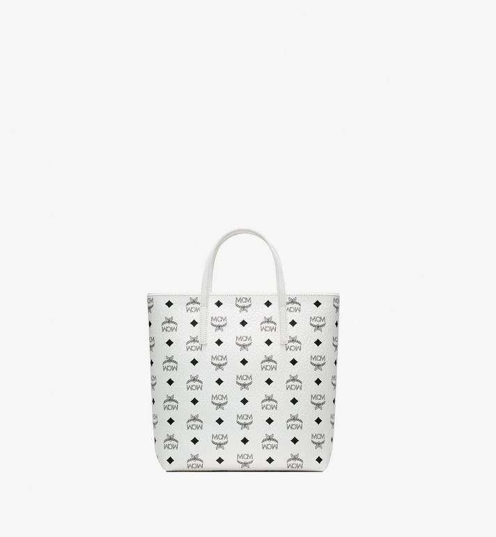 MCM Anya Shopper in Visetos White MWP9AVI77WT001 Alternate View 3