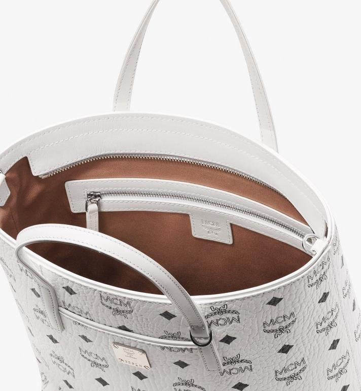 MCM Anya Shopper in Visetos White MWP9AVI77WT001 Alternate View 4