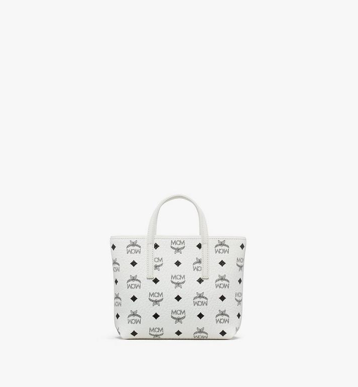 MCM Anya Shopper in Visetos White MWP9AVI78WT001 Alternate View 3