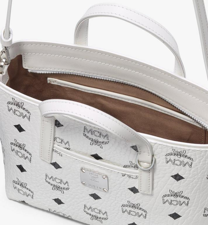 MCM Anya Shopper in Visetos White MWP9AVI78WT001 Alternate View 4