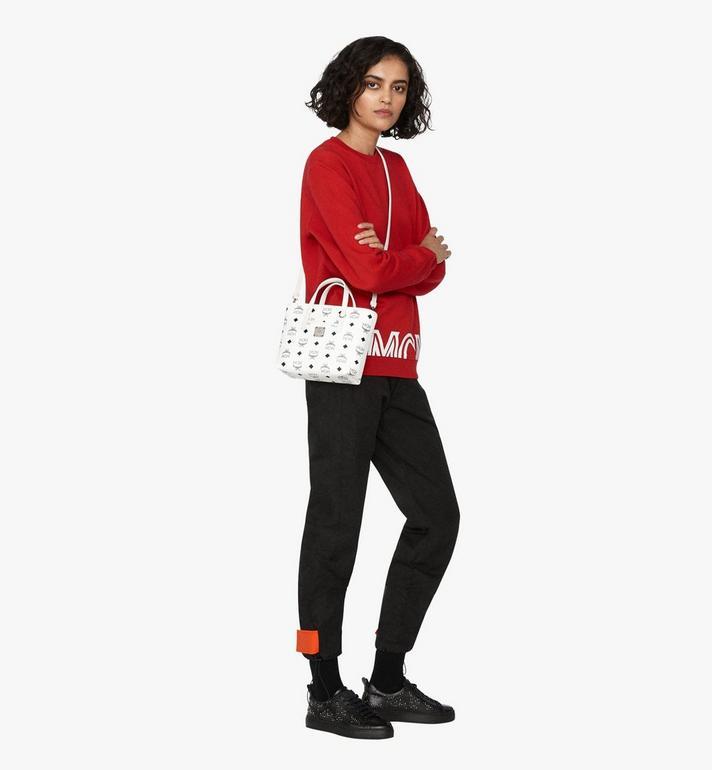 MCM Anya Shopper in Visetos White MWP9AVI78WT001 Alternate View 5