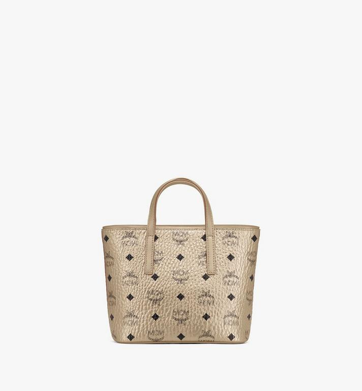 MCM Anya Shopper in Visetos Gold MWP9AVI98T1001 Alternate View 3