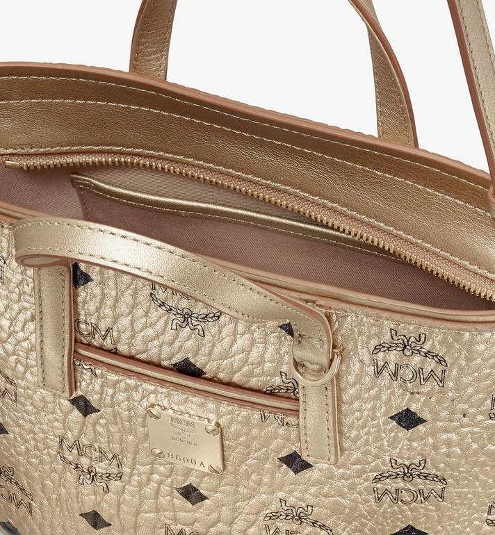 MCM Anya Shopper in Visetos Gold MWP9AVI98T1001 Alternate View 4