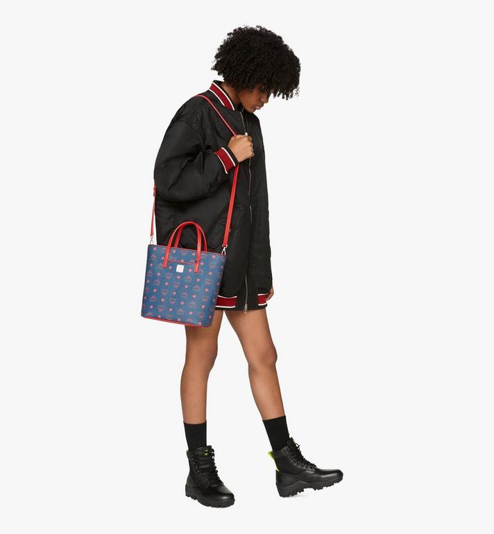MCM Anya Shopper in Visetos Blue MWP9AVI99VS001 Alternate View 5