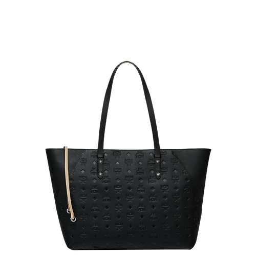 Klara Shopper-Tasche aus Leder mit Monogramm