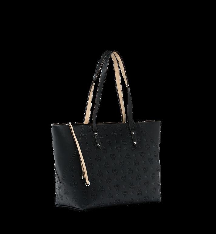 MCM Klara Shopper-Tasche aus Leder mit Monogramm Black MWP9SKM51BK001 Alternate View 2