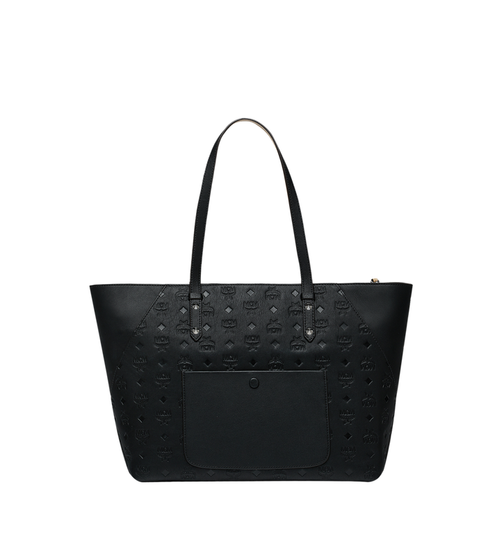 MCM Klara Shopper in Monogram Leather Black MWP9SKM51BK001 Alternate View 4