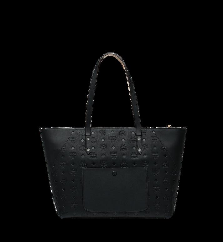 MCM Klara Shopper-Tasche aus Leder mit Monogramm Black MWP9SKM51BK001 Alternate View 4