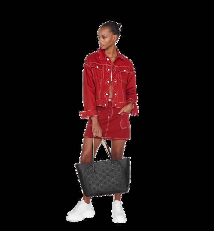 MCM Klara Shopper-Tasche aus Leder mit Monogramm Black MWP9SKM51BK001 Alternate View 6