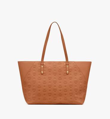 Klara 經典壓花皮革購物袋