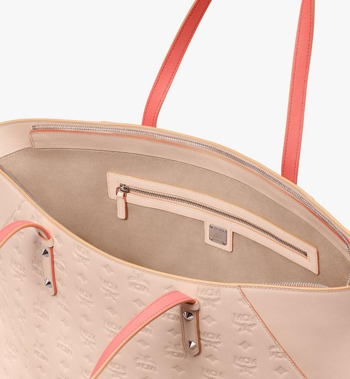 MCM Klara Shopper in Monogram Leather Beige MWP9SKM51II001 Alternate View 4