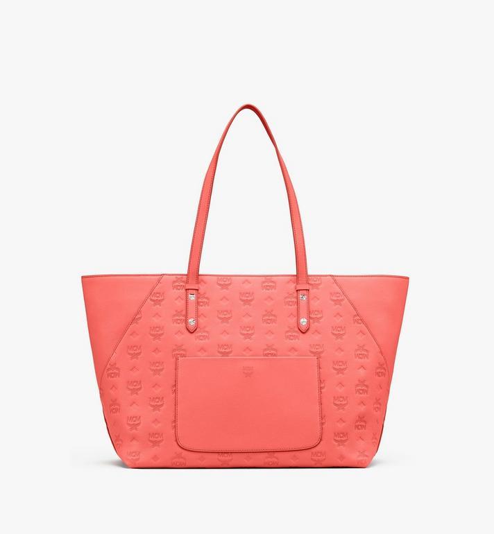 MCM Klara Shopper in Monogram Leather Pink MWP9SKM51O3001 Alternate View 3