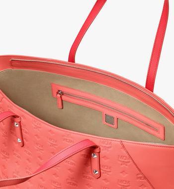 MCM Klara Shopper in Monogram Leather Pink MWP9SKM51O3001 Alternate View 4