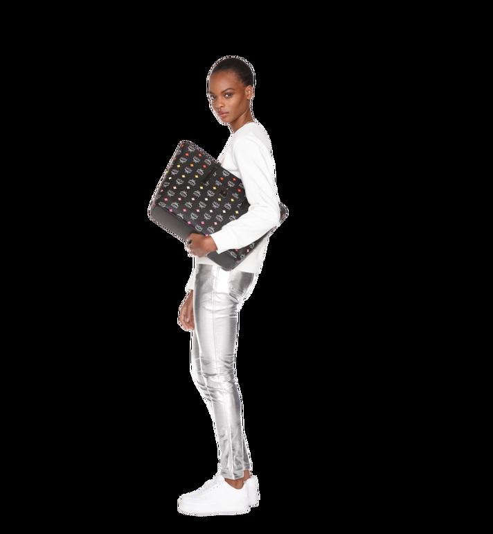 MCM Anya Top Zip Shopper in Skyoptic Visetos Black MWP9SVI43BA001 Alternate View 7