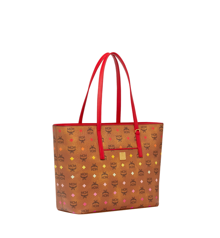 MCM Anya Shopper mit Reissverschluss in Spektrum Visetos Cognac MWP9SVI43CA001 Alternate View 2