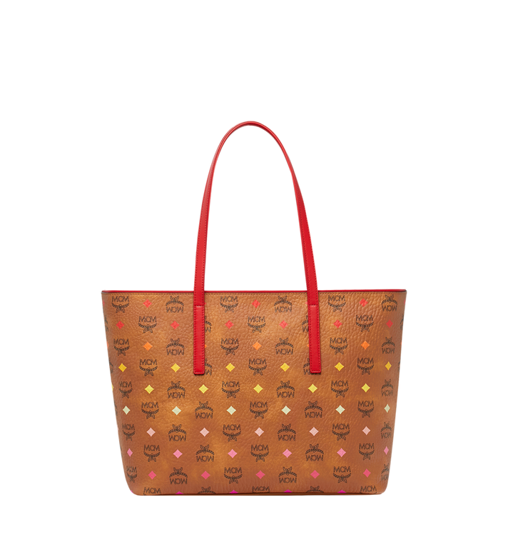 MCM Anya Shopper mit Reissverschluss in Spektrum Visetos Cognac MWP9SVI43CA001 Alternate View 4