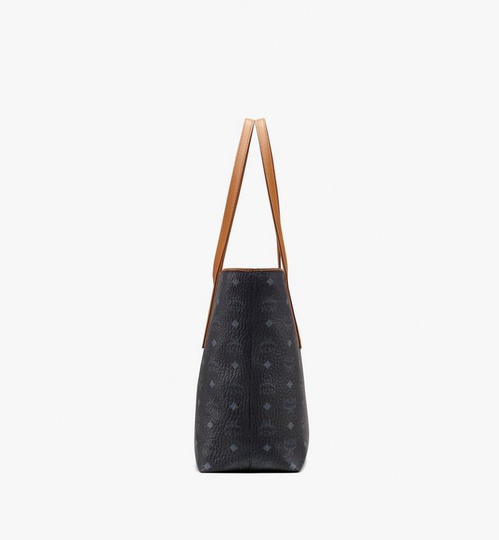 MCM Anya Top Zip Shopper in Visetos Black MWP9SVI61BK001 Alternate View 2