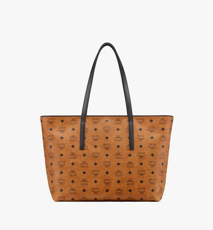 MCM Anya Top Zip Shopper in Visetos Alternate View 3
