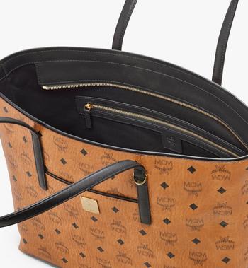 MCM Anya Shopper mit Reissverschluss in Visetos Cognac MWP9SVI61CO001 Alternate View 4