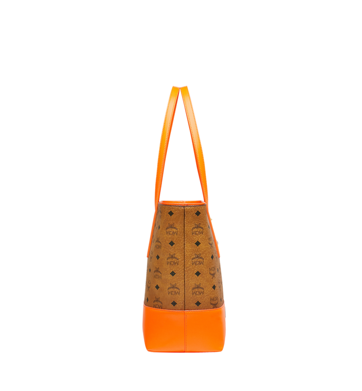 MCM Geonautic Shopper-Tasche in Visetos Cognac MWP9SWI13CO001 Alternate View 3