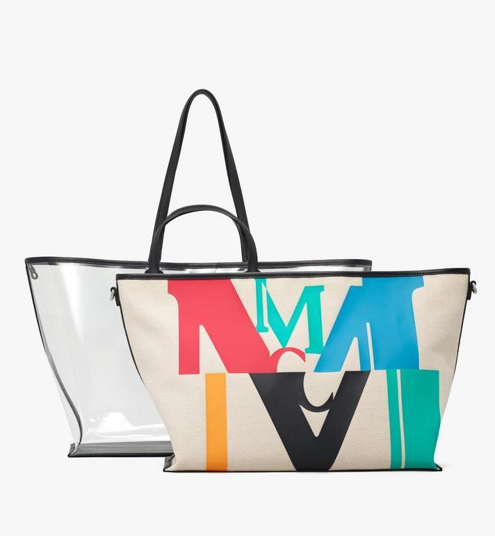 MCM Shopper in Logo Glitch Hologram  MWPAAMH03MT001 Alternate View 5