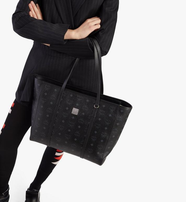 MCM Toni Shopper in Visetos Black MWPAATN01BK001 Alternate View 6