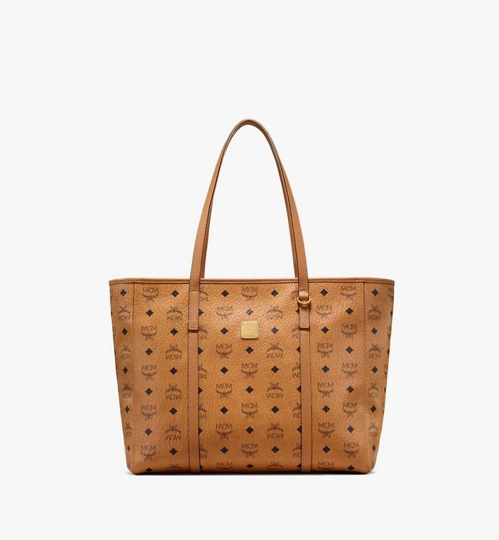 MCM Toni Shopper in Visetos Cognac MWPAATN01CO001 Alternate View 1