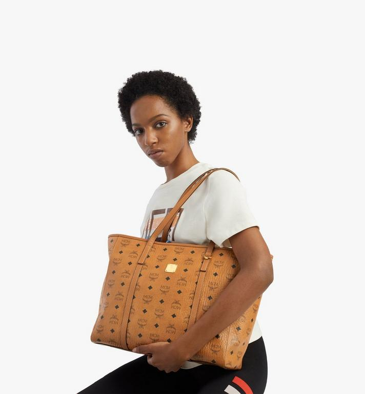 MCM Toni Shopper in Visetos Cognac MWPAATN01CO001 Alternate View 6