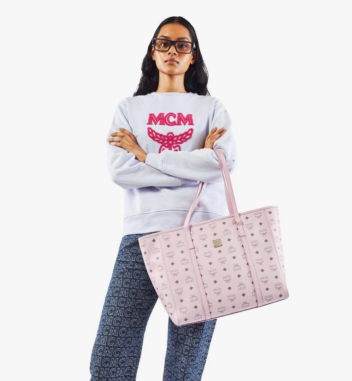 MCM Toni Shopper in Visetos Pink MWPAATN01QH001 Alternate View 6