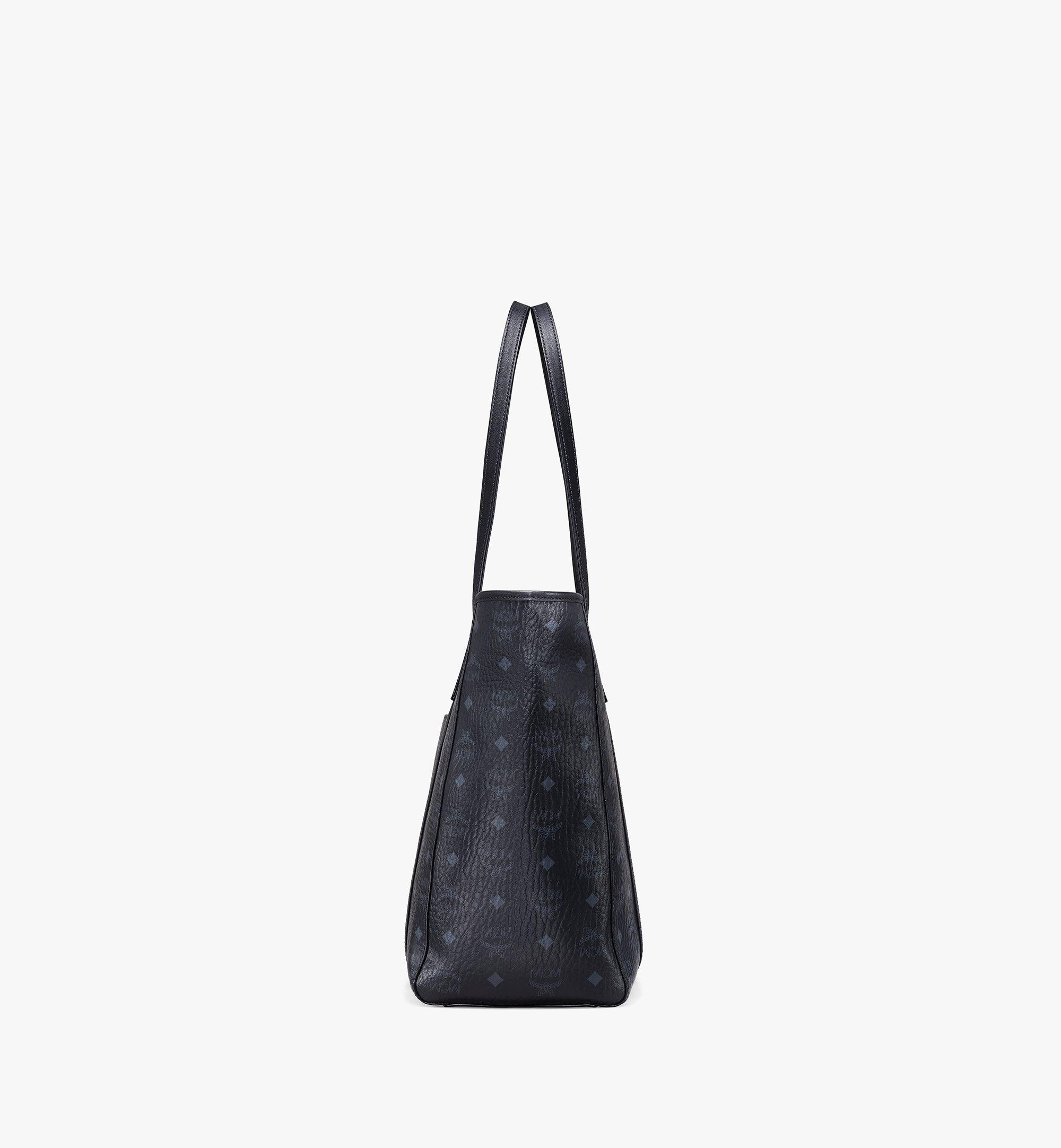 MCM Toni Shopper in Visetos Black MWPAATN03BK001 Alternate View 2