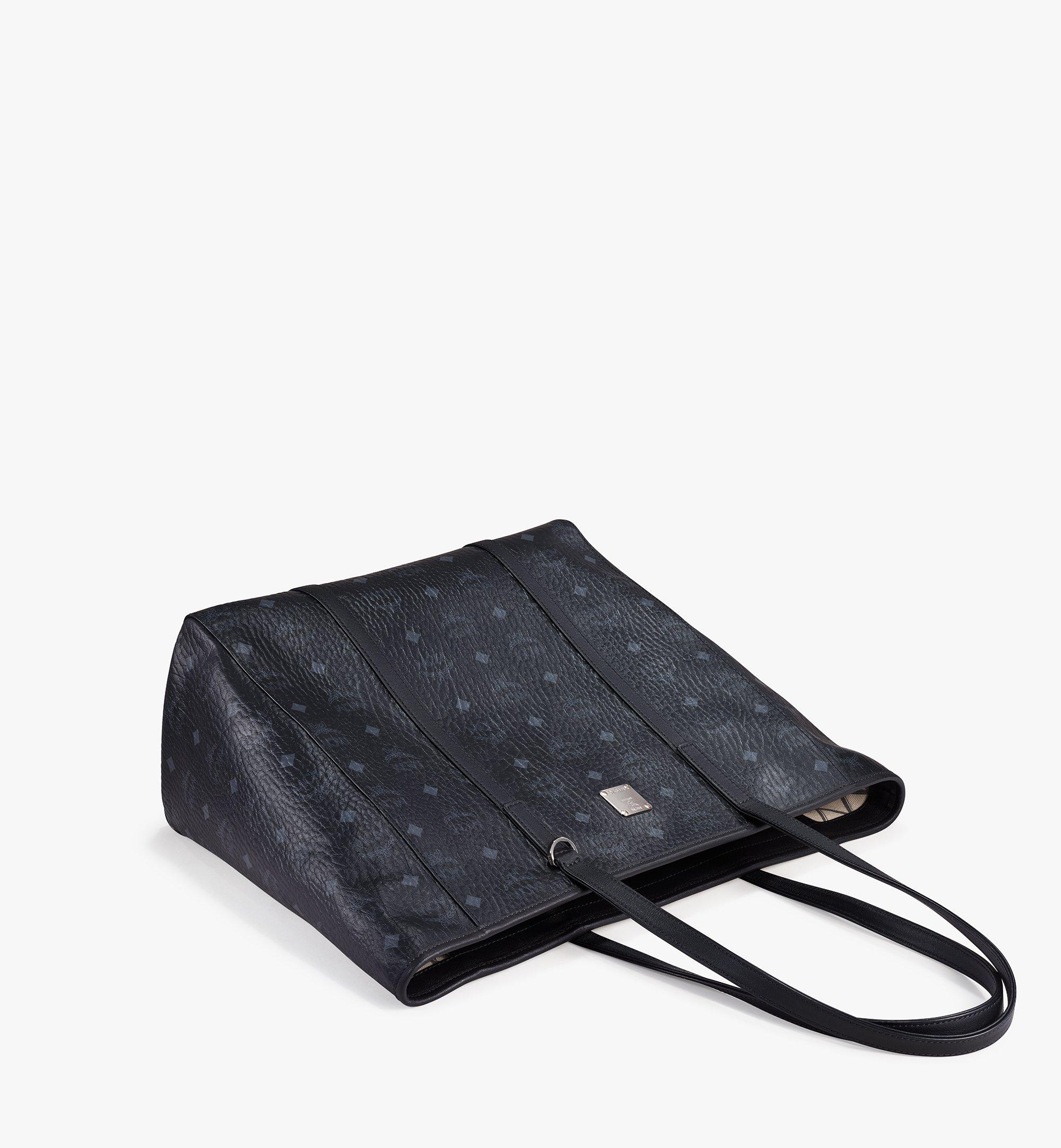 MCM Toni Shopper in Visetos Black MWPAATN03BK001 Alternate View 3