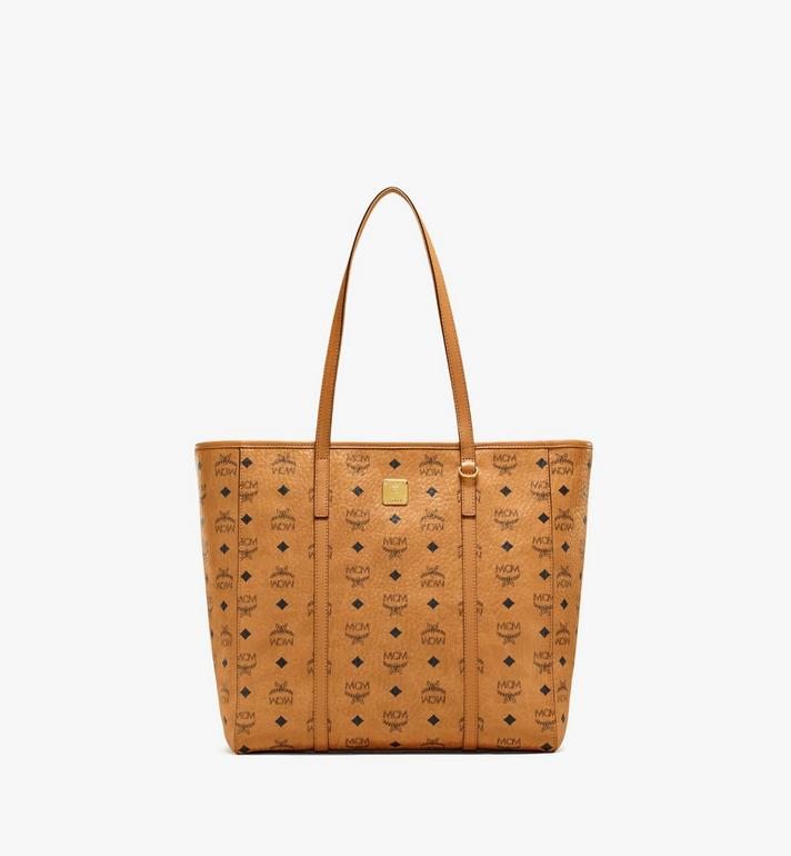 MCM Toni Shopper in Visetos Cognac MWPAATN03CO001 Alternate View 1