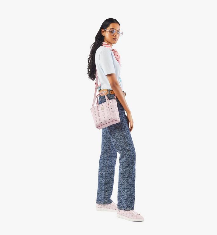 MCM Toni Shopper in Visetos Pink MWPAATN04QH001 Alternate View 5