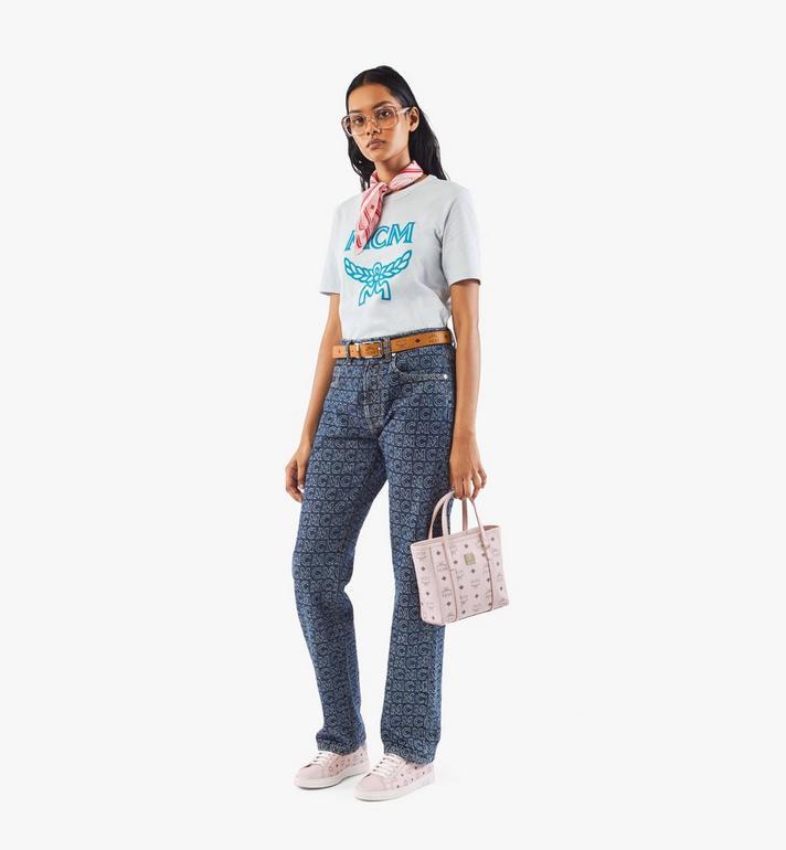 MCM Toni Shopper in Visetos Pink MWPAATN04QH001 Alternate View 6