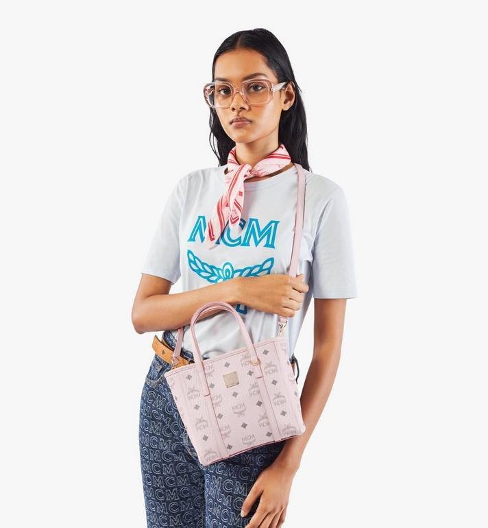 MCM Toni Shopper in Visetos Pink MWPAATN04QH001 Alternate View 7