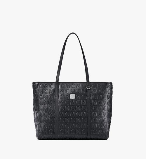 MCM 花押字圖案皮革 Toni 購物袋