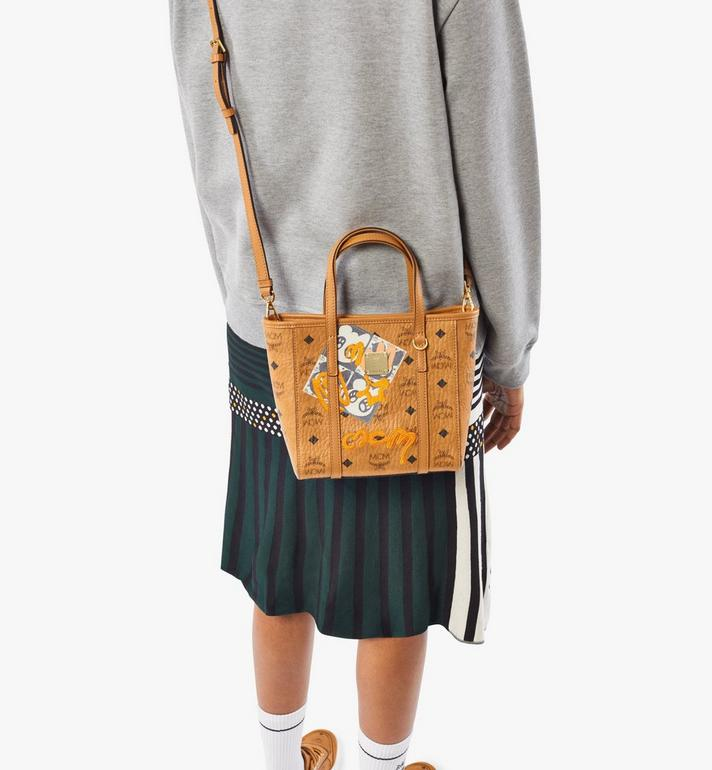 MCM Toni Shopper in Berlin Bear Visetos Cognac MWPAATN10CO001 Alternate View 7
