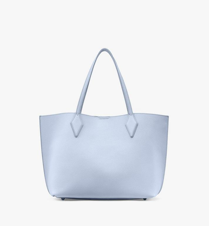 MCM Yris Shopper in Tani Leather Blue MWPAAYS01H4001 Alternate View 4