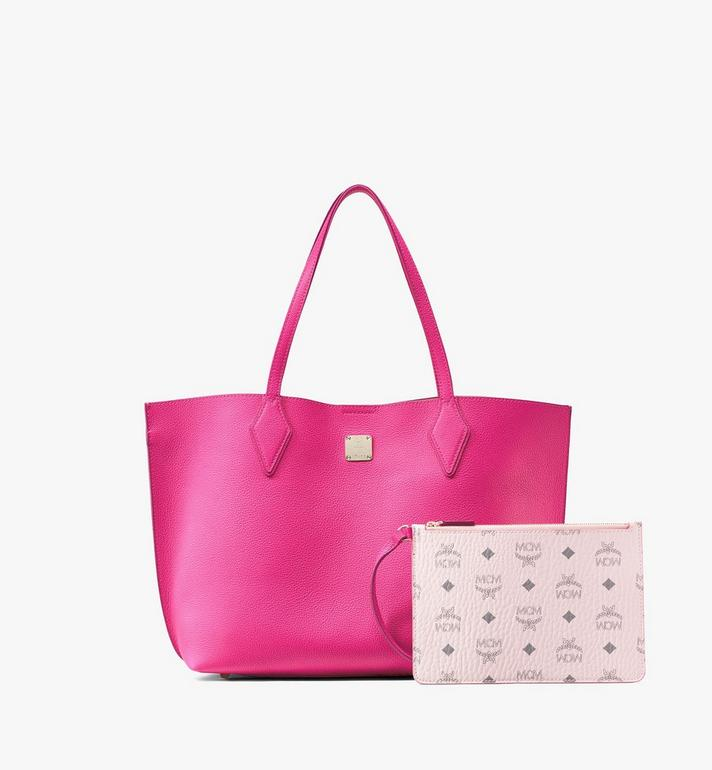 MCM Yris Shopper in Tani Leather Pink MWPAAYS01QJ001 Alternate View 6