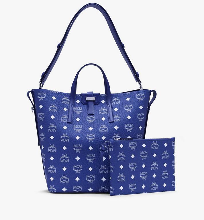 MCM Gunta Shopper in Visetos Blue MWPASGU01H1001 Alternate View 2