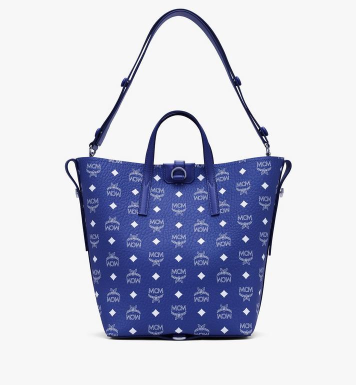 MCM Gunta Shopper in Visetos Blue MWPASGU01H1001 Alternate View 4