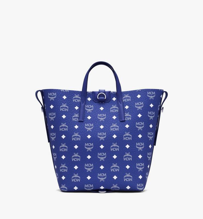 MCM Gunta Shopper in Visetos Blue MWPASGU01H1001 Alternate View 5
