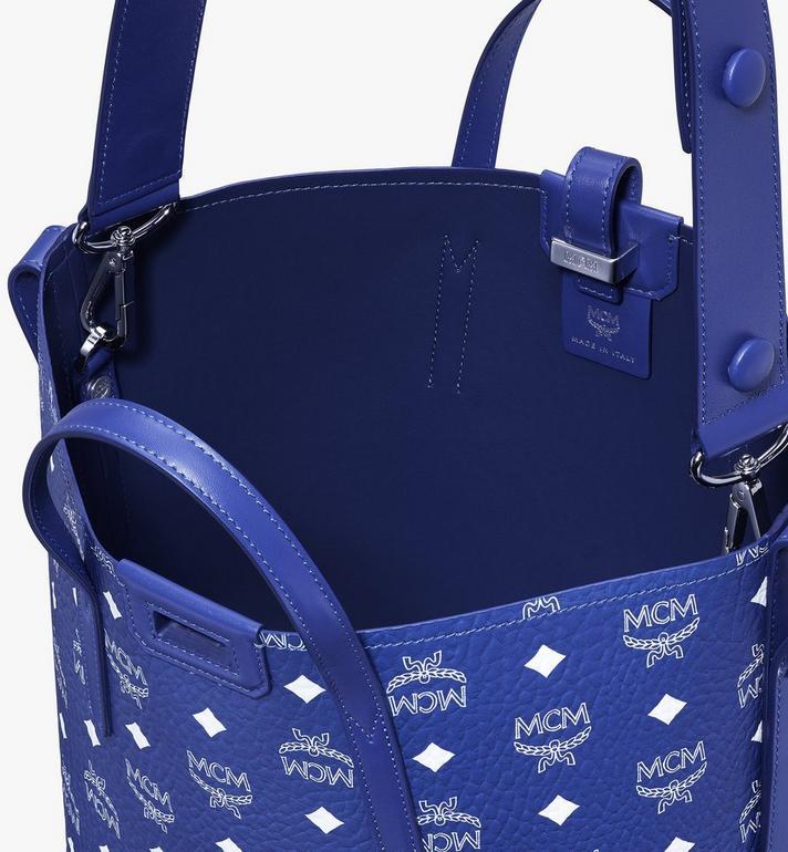 MCM Gunta Shopper in Visetos Blue MWPASGU01H1001 Alternate View 7